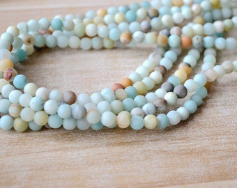 Natural Amazon Stone Beads Colorful Amazonium Matte Bead Bead Wholesale A243