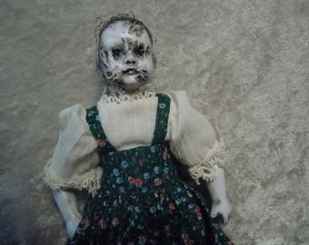 Small Doll with Scary Face #141 Creepy Doll  Day of the Dollies