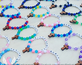 Wooden Cross - Personalized Handmade Bracelet