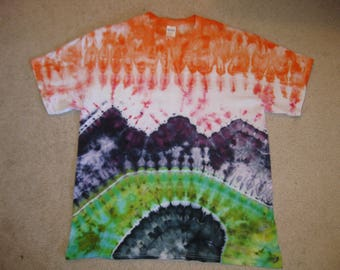 tie dye shirt, Rocky Mountains, landscape art, nature shirt, mountain art