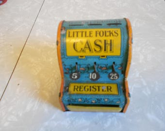 Vintage Little Folks Cash Register