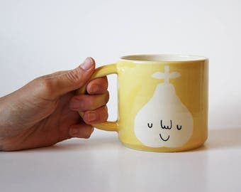 Ready to ship: Happy Yellow Pear Mug
