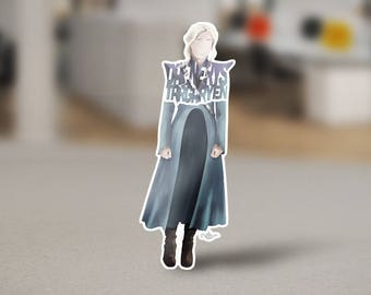 Daenerys Targaryen Sticker of the Mother of Dragons from the Game of Thrones TV show on HBO. Dany as the Khaleesi as the Queen of Westeros