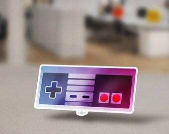Nintendo Entertainment System Controller Sticker Design. NES Retro Sticker Design that Controlled the Original Zelda Super Mario and more