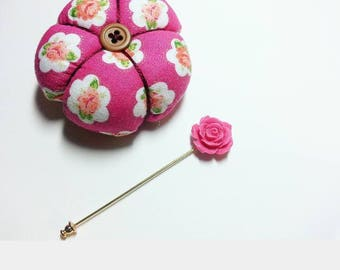 Pink Floral Hijab Pin & Cushion