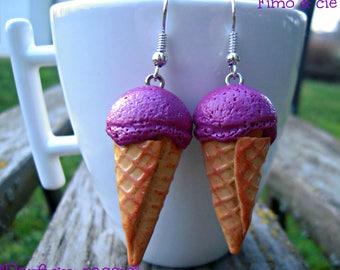 "Earrings ""blackcurrant sorbet""!"