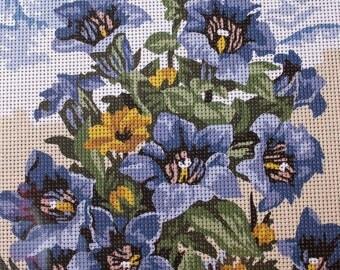 Needlepoint tapestry kit, MOUNTAIN FLOWERS, 30 x 40 cm, V029