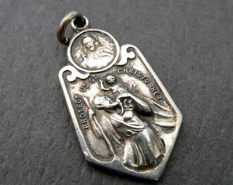Saint Christopher, Vintage Medal, Scapular Medal