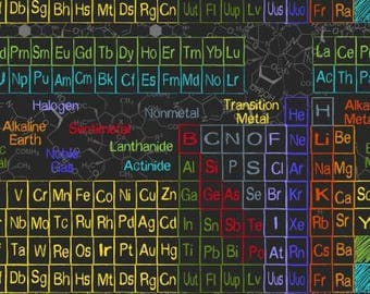 Periodic Table Cotton Woven Fabric by Timeless Treasures