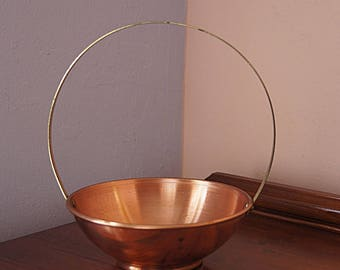 Vintage copper bowl.