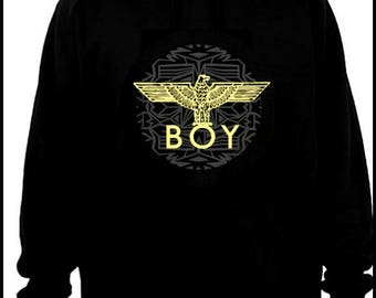 Boy London inspired hoodie M/L with hand painted details