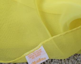 Bright Yellow and Sheer Glentex Square Scarf