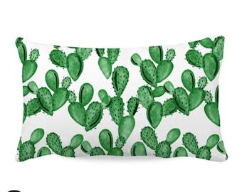 Watercolor Cactus Nursery Throw Pillow Cover | Cactus Throw Pillow Cover | Cactus Nursery Pillow Cover | Watercolor Cactus Nursery