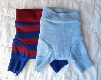 RESERVED for Kim C - 2 pairs of shorties (lt blue & red/blue stripe) - SMALL