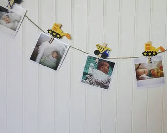 Blue Truck First Birthday, Construction First Birthday, Construction Party, Truck Party, Construction Monthly Photo Banner, N-12 Pictures
