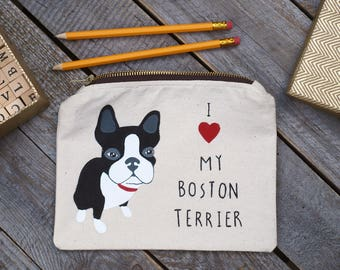 boston terrier gifts, boston terrier Pencil Case, boston terrier coin purse, Personalized pencil case, boston terrier,boston terrier decal