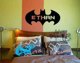 Batman Personalized Name   Wall Decal   Decal   Batman Decal   Movie Decals    Wall