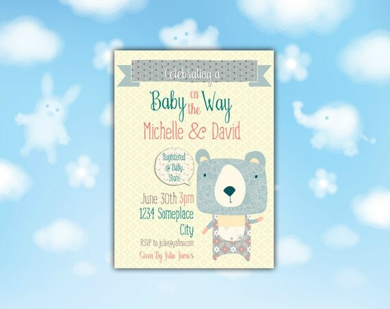 Baby on The Way Shower Invitation