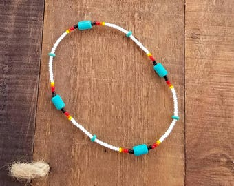 Womens Ankle Bracelet, Stretch Anklet, Ankle Bracelet, Beaded Ankle Bracelet, Native American Jewelry, Native Jewelry, Beach Anklets, Boho