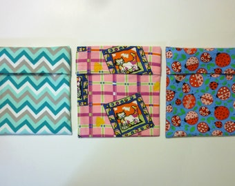 Ice Pack Cover ~ Envelope Style ~ Ice Pack Cozy ~ Soft Flannel