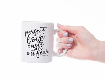 Scripture SVG, Christian SVG, Perfect Love Casts Out Fear, 1 John 4:18, cutting files