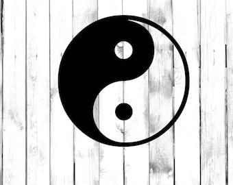 Yin Yang Symbol - Yeti/Tumbler/Water Bottle/Car/Truck/Home/Laptop/Computer/Phone Decal