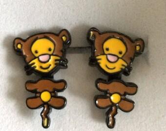 Tiger earrings, Pooh bear Disney