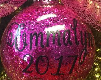 Customized Glitter Christmas Ornaments