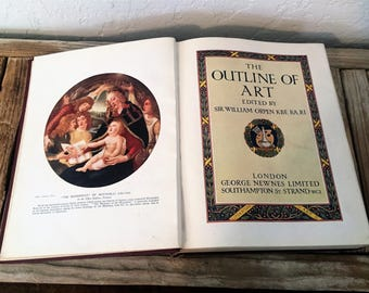 Vintage Book Titled The Outline Of Art London