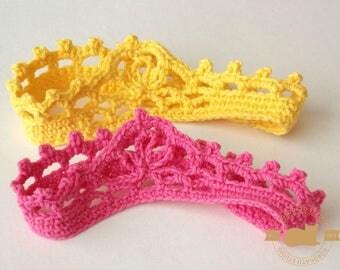 Crochet Headband Pattern, Baby Crown Pattern, Beginner Pattern, Princess Crown, Tutorial Pattern, Photo Prop Crown, Instant Download /3008/