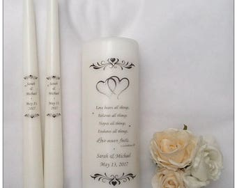 Unity Candle Set -  Personalised for you