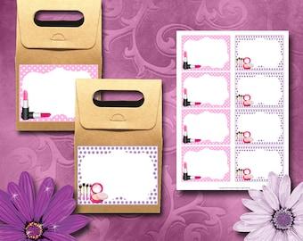 Makeup Labels Instant Download Printable Labels
