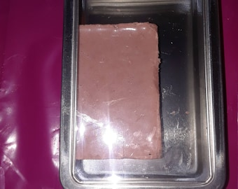 Rectangle bar soap in metal container
