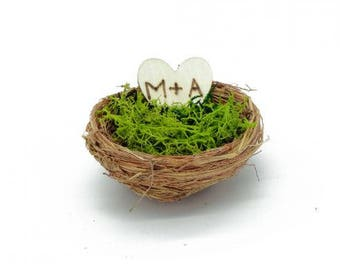 Schachteln Sie für Alliance, Kissen für Allianz, Nest für Ehering, Ringkissen