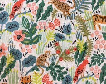 Menagerie by Rifle Paper Company for Cotton and Steel Jungle Natural
