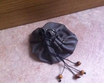 Khaki leather purse