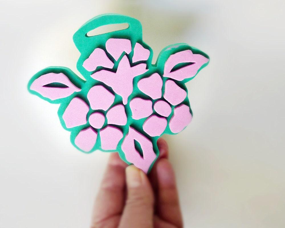 Nosegay Stamp Foam Craft Stamp Flower Stamp Foam