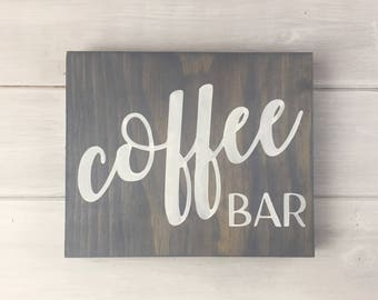 Coffee bar Sign, Kitchen signs, Hand Painted, kitchen decor, Farmhouse decor, Coffee Bar Decor, Coffee bar, Coffee sign, French Country