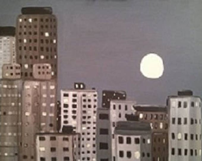 City Scape-  MADE TO ORDER - Acrylic Painting