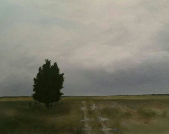 Approaching Storm -  Framed -  Oil On Paper