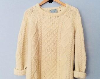 1980s Wool Fisherman's Sweater