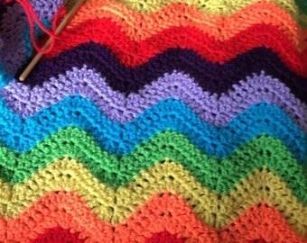 Crochet Ripple Pram Blanket