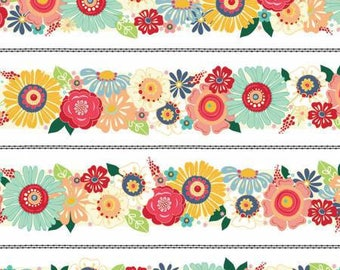NEW! Fabric by the Yard - Fat Quarter Bundle - Boho Fabric - Bloom Trim - Adornit - Floral Quilt Fabric - Flamingo Fever