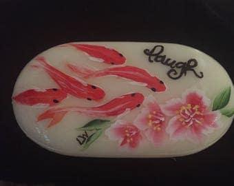 Koi Fish Hand Painted Soap
