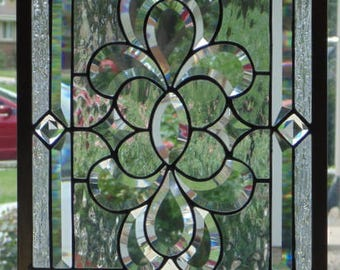 Stained Glass Window Hanging 29 1/2 X 15