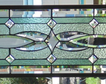 """Stained Glass Window Hanging  47 X 12 1/4"""""""