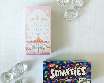 Carousel smarties box cover