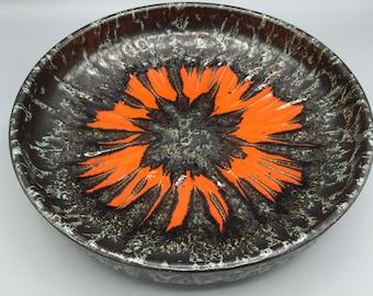"Scheurich ,,Lora"", 340 - 25 Mid Century Modern 1970s Fat Lava glaze  bowl West Germany Pottery,  WGP vase."