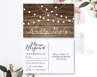 RSVP Postcard Template, Wedding Rsvp Card, Wedding Rsvp Postcard, Rsvp Card, Rsvp Card Template, INSTANT Download PDF Template #CL101