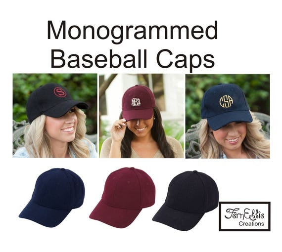 Monogrammed Wool Baseball Cap, Monogram Hat, Personalized Baseball Cap